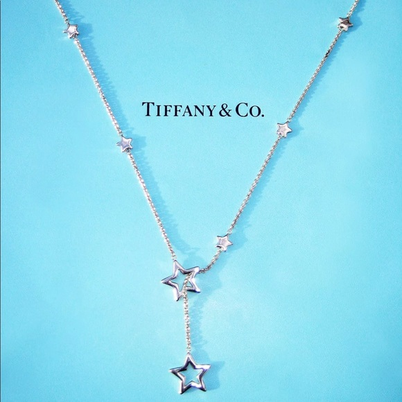 c4eef0173c7f8 Authentic Tiffany & Co. Star Lariat Necklace